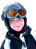 De skiglimlach van het meisje Stock Fotografie