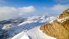 De skihelling zet Hermon op Royalty-vrije Stock Afbeeldingen
