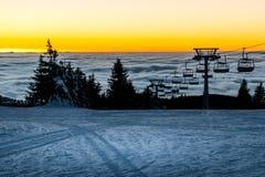 De skilift van de stoel Stock Fotografie