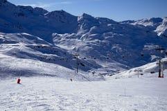 De skitoevlucht van Alpe d'Huez Royalty-vrije Stock Foto