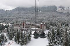 De skitoevlucht van Alyeska stock afbeelding