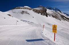 De skitoevlucht van Ankogel, Oostenrijk Royalty-vrije Stock Foto's