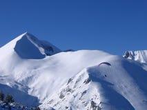 De skitoevlucht van Bansko, Bulgarije Stock Foto