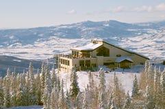 De skitoevlucht van de stoomboot, Colorado Stock Fotografie