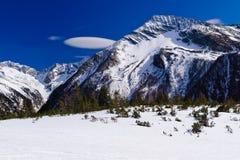 De skitoevlucht van Molltaler, Oostenrijk Stock Foto's
