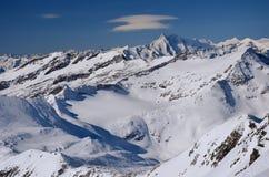 De skitoevlucht van Molltaler, Oostenrijk Royalty-vrije Stock Foto's