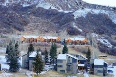 De skitoevlucht van de sneeuwmassa Royalty-vrije Stock Fotografie