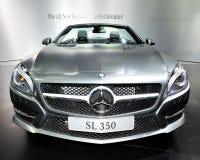De sl-Klasse van Mercedes-Benz Convertibele sportwagen Royalty-vrije Stock Foto's