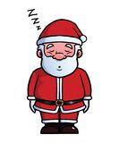 De slaap en het snurken van Santa Claus stock illustratie