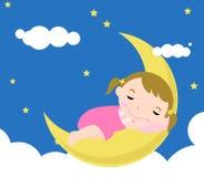 De slaap van de baby Stock Foto's