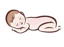 De slaap van de baby royalty-vrije illustratie