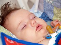 De slaap van de baby Royalty-vrije Stock Afbeeldingen