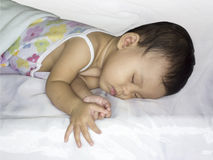 De slaap van de baby Stock Afbeelding