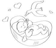 De slaap van de baby stock illustratie