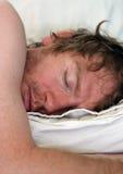De slaap van de mens Royalty-vrije Stock Foto