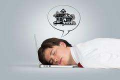 De slaap van de mens Stock Foto