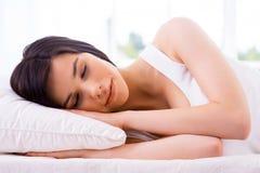 De slaap van de vrouw Royalty-vrije Stock Fotografie