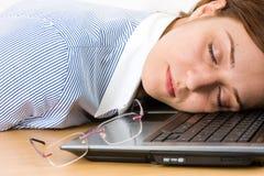 De slaap van de vrouw Stock Fotografie