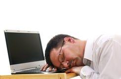 De slaap van de zakenman Stock Foto's
