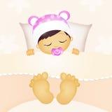 de slaap van het babymeisje Stock Foto's
