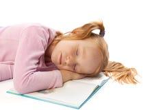 De slaap van het meisje Stock Afbeelding
