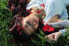 De slaap van het meisje Stock Fotografie