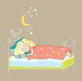 De slaap van het meisje Royalty-vrije Illustratie