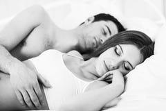 De slaap van het paar Stock Foto's