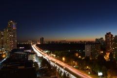 De slaap van Moskou nooit? of nachtmozaïek royalty-vrije stock foto