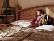 In de slaapkamer Royalty-vrije Stock Afbeeldingen