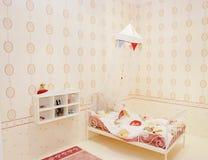 De slaapkamer van de baby Stock Foto