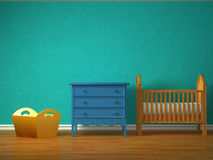 De slaapkamer van de baby vector illustratie