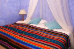 De slaapkamer van de kleur royalty-vrije stock afbeeldingen