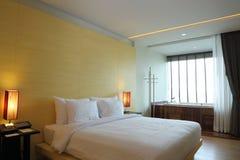 De slaapkamer van het boutiquehotel Stock Fotografie