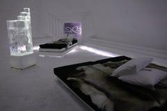 De Slaapkamer van het ijshotel Stock Foto