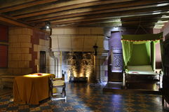 De slaapkamer van het kasteel Stock Foto