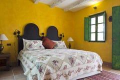 De slaapkamer van het land Stock Foto's