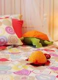 De slaapkamer van het leuke kind stock foto's