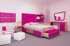 De slaapkamer van het meisje stock illustratie
