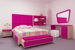 De slaapkamer van het meisje Stock Foto
