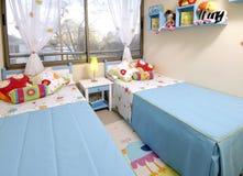 De slaapkamer van jonge geitjes Royalty-vrije Stock Foto's