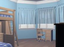 De Slaapkamer van jongens stock illustratie