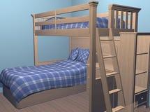 De Slaapkamer van jongens royalty-vrije illustratie