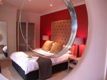 De Slaapkamer van Luxuary stock afbeeldingen