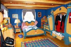 De Slaapkamer van Mickey Mouse in Disneyworld Royalty-vrije Stock Foto's