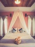 De slaapkamer van minnaarbali Stock Afbeeldingen