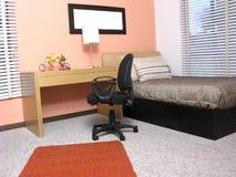 De slaapkamer van Moderm stock afbeelding