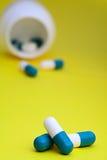 De slaappil van het het voorschriftkalmeermiddel van de geneeskunde Stock Foto