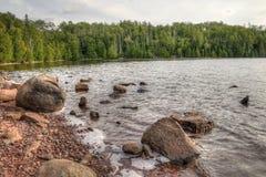 De slaapreus is een groot Provinciaal Park op het Meer Superieure noorden van Donderbaai in Ontario royalty-vrije stock fotografie
