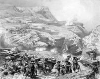 De slag in de bergen vector illustratie